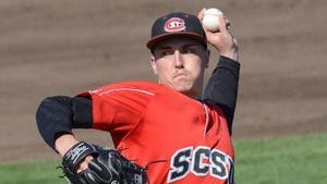 Cal Giese finished his sophomore season at St. Cloud State with nine wins and a 1.86 earned run average in 72⅔ innings pitched.