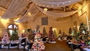The Mass. Horticultural Society at Elm Bank in Wellesley will present the annual Festival of Trees from Nov. 27-Dec. 20.