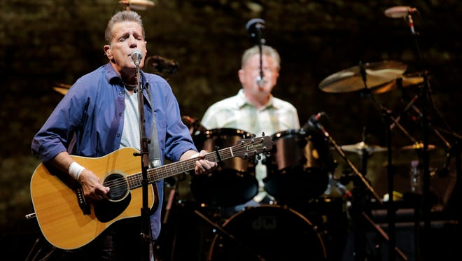 Eagles band members Glenn Frey and Don Henley performed at the Don Haskins Center May 22, 2015 as part of their History of the Eagles Tour 2015.