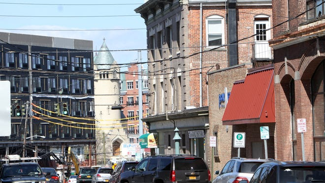 The old and the new of downtown Port Chester.