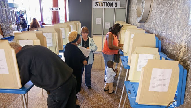 Early voting is under way throughout the state, including here in Milwaukee at the Zeidler Municipal Building downtown at 830 N. Market St.