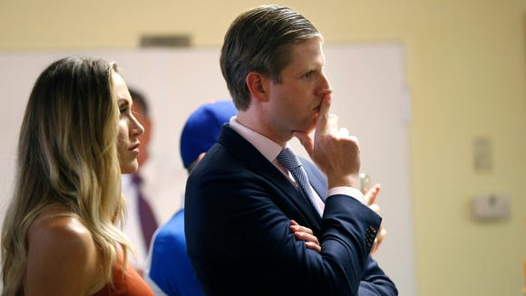 Eric Trump and his wife Lara Yunaska in Statesville,