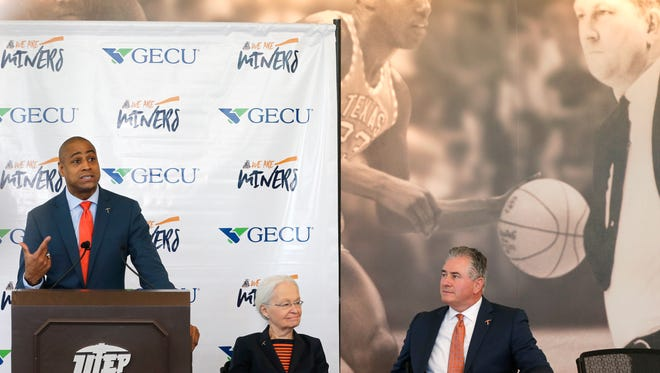 Rodney Terry was named the 19th head coach at UTEP Wednesday afternoon by UTEP President Diana Natalicio and Director of Athletics Jim Senter in a packed Foster-Stevens Basketball Center. Terry comes to UTEP form Fresno State after serving as their head coach for the past seven seasons, leaving there with a record of 126-108.