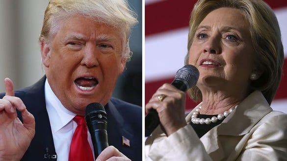 Presumptive nominees Donald Trump and Hillary Clinton.