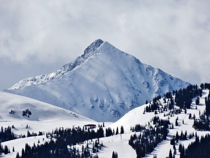 It was a perfect day at Vail Pass in Colorado on Monday