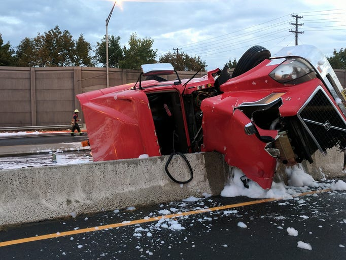 An accident involving an oil tanker on Oct. 5, 2017,