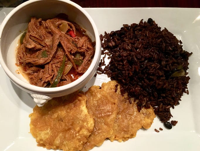 The ropa vieja ($17) is a best-seller at Salsa Cuban