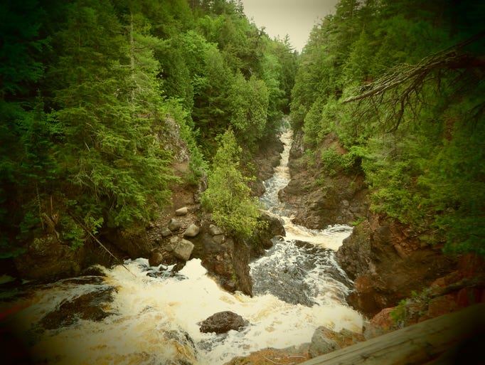 Copper Falls State Park in summer 2014.