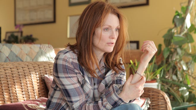 "Julianne Moore appears in a scene from the film ""Still Alice."" Moore was nominated for an Oscar Award for best actress."