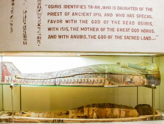 Earlham College mummy Joseph Moore Museum
