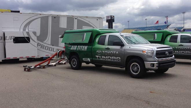 Air Titan is making its first appearance at Iowa Speedway this weekend.