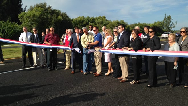 The State Road 78 road widening project conclusion was dedicated with a ribbon cutting this morning.