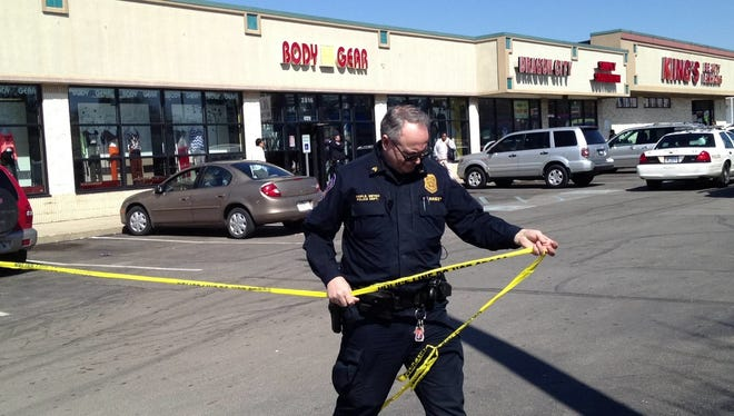The Indianapolis Metropolitan Police Department is investigating a shooting during the afternoon of March 30, 2014, at Body Gear, 2816 E. 38th St.