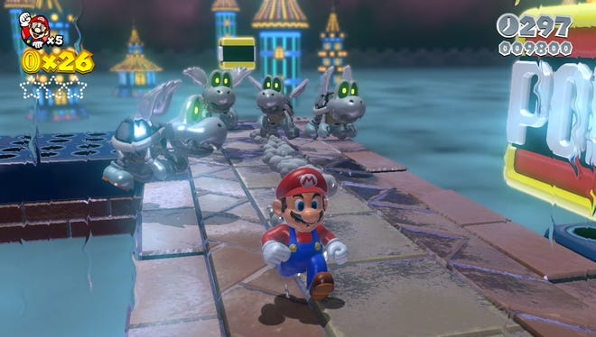 Super Mario 3D World (Wii U; rated E)