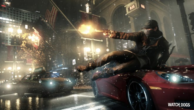 A scene from the Ubisoft adventure game 'Watch Dogs.'