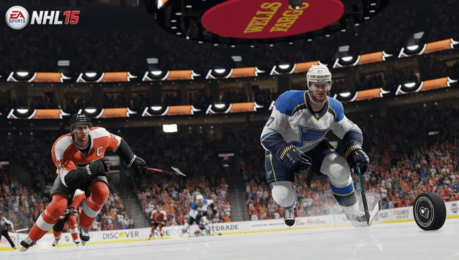 A screen shot from the video game 'NHL 15.'