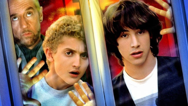 Still a classic: The stars of 'Bill & Ted's Excellent Adventure.'
