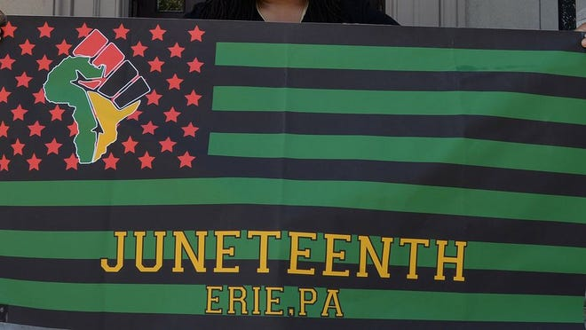 Juneteenth is normally a celebration of slavery's end, but this year in Erie it will also be a day of protest. [JACK HANRAHAN/ERIE TIMES-NEWS}