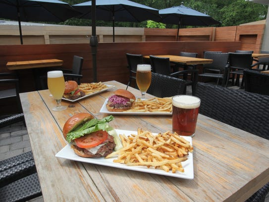 Beer garden and burgers at the Burger Loft in New City.