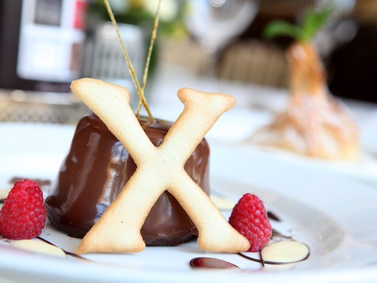 X marks the spot: Dark Chocolate Timbale, at Restaurant