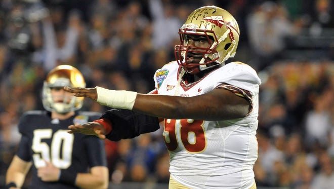 Cameron Erving moved to center from left tackle for the last part of Florida State's season.