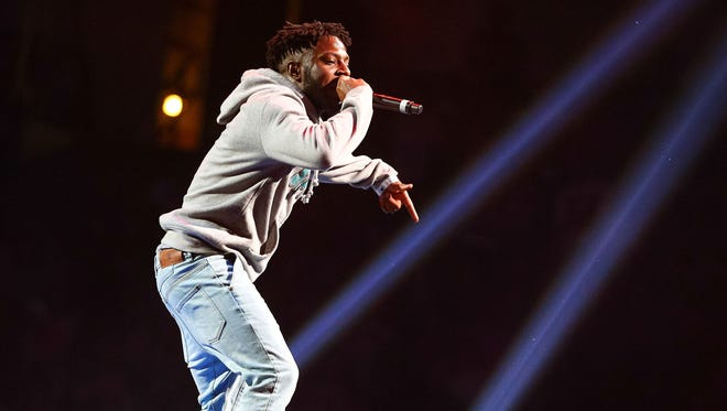 Recording artist Isaiah Rashad performs onstage at Power 106 FM's Powerhouse at Honda Center on May 17, 2014 in Anaheim, California.