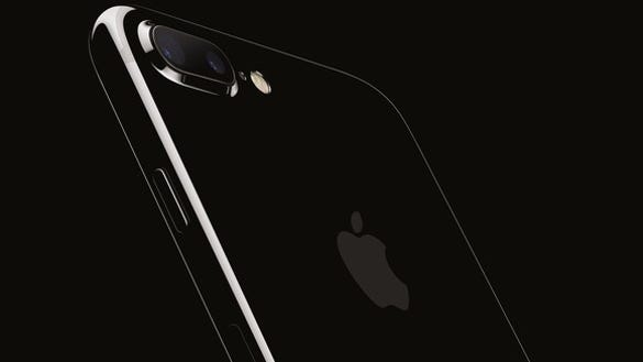 Apple's iPhone 7 Plus in Jet Black.