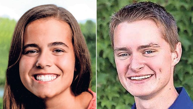 Mona Nolte and Cory Van Beek of Appleton West High School are this week's top scholars.