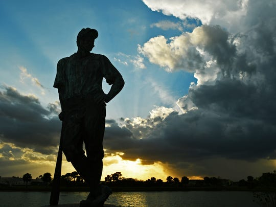 The Casey at the Bat statue is an icon of Space Coast Stadium in Viera.