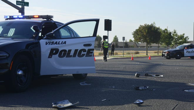 Two officers injured in collision near Caldwell and Akers.