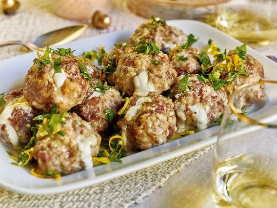 Burrata-Stuffed Meatballs uses two kinds of cheese