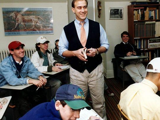 Morristown, December 8, 1993--Brian Fleury teaches English at Delbarton. photo/John Bell