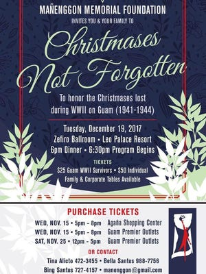 A Christmas party is planned for Guam's World War II survivors who missed out on Christmas celebrations during the war.