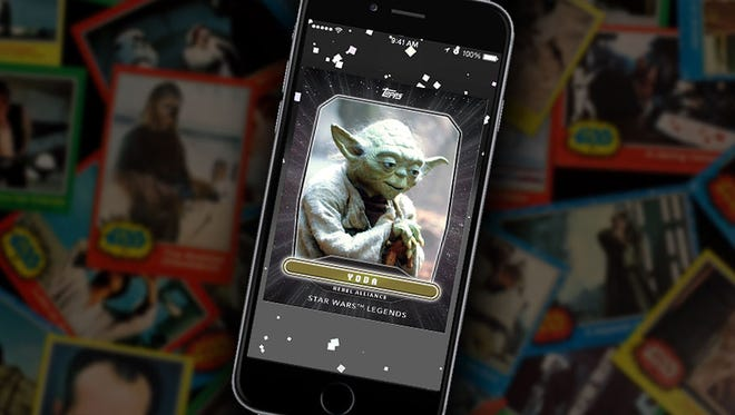 """Yoda fans will want to look for the special """"Legends"""" card of the Jedi master in the new """"Star Wars: Card Trader"""" app."""