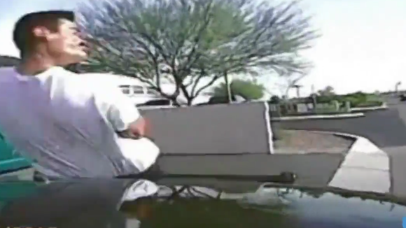 Police in a Tucson suburb have released a video showing