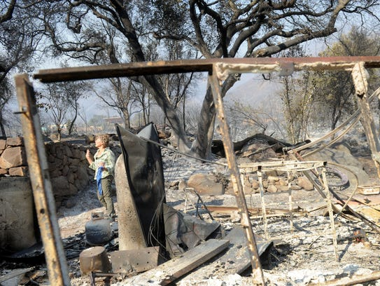 Karin Dron, who lives on Gridley Road near Ojai, thought