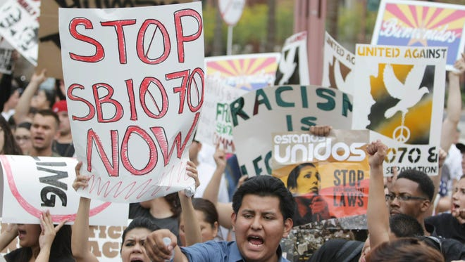 A 2012 protest against SB1070.
