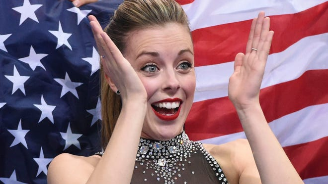Ashley Wagner was pleased with her short program that helped the USA stay in good shape for a medal at the Sochi team figure skating.