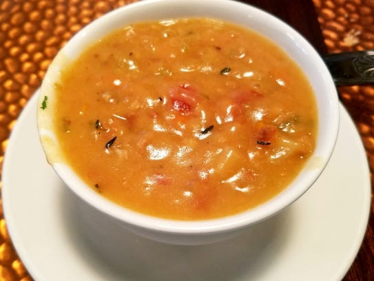 Palm City Grill's Bahamian conch chowder.