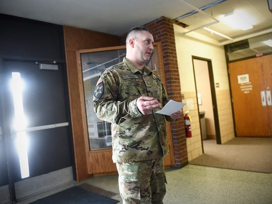 Maj. Patrick Foley talks about proposed changes to