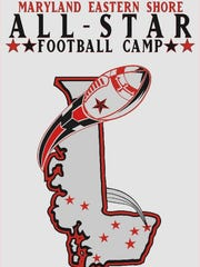The Maryland Eastern Shore All-Star Football Camp logo.