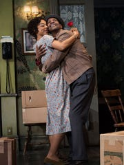 Sophie Okonedo and Denzel Washington in the Tony Award-winning