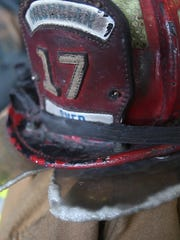A firefighter helmet made in 1989 that is still being