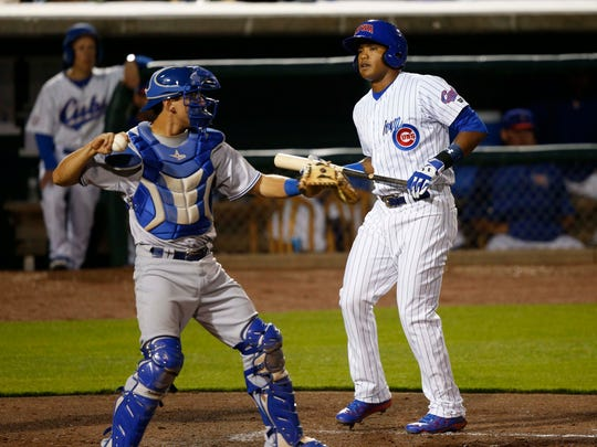 Addison Russell during his stint with the Iowa Cubs in 2015.