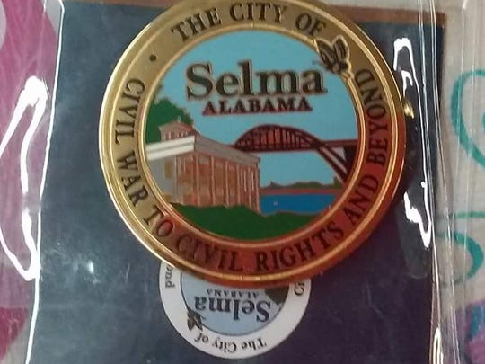 A pin from the city of Selma