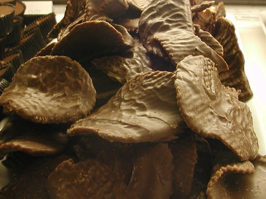 Chocolate-covered potato chips at the Candy Store of