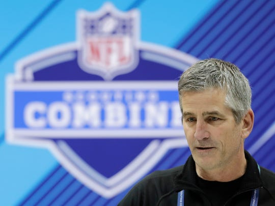 Indianapolis Colts head coach Frank Reich at the NFL Scouting Combine.