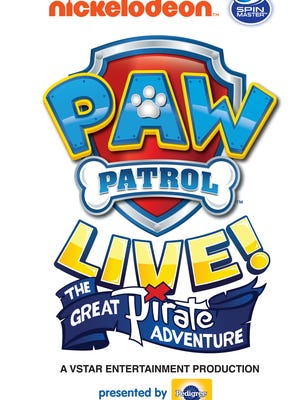 """Paw Patrol Live! """"The Great Pirate Adventure"""" is coming to Budweiser Events Center in January."""