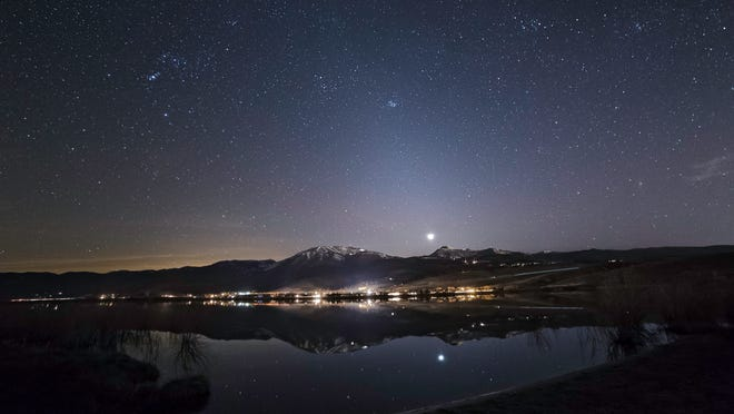 Zodiacal light, as seen in late March near Little Washoe Lake.