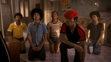 Justice Smith, front left, and Shameik Moore, are part of an ensemble cast in Netflix's 'The Get Down.'